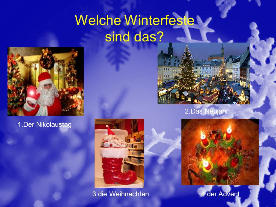 Welche Winterfeste sind das