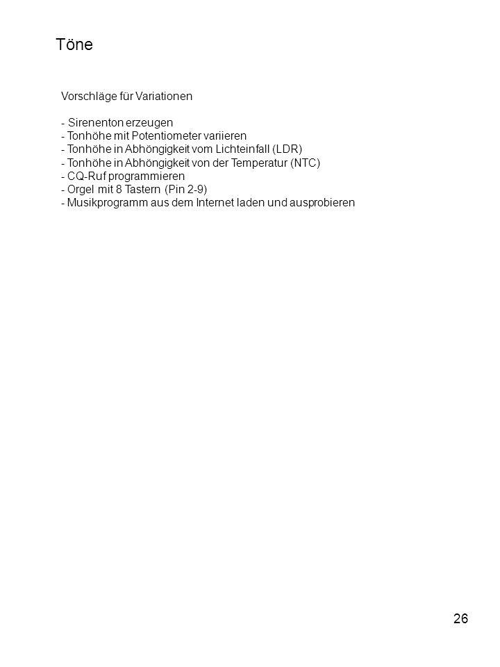 Töne 26 Vorschläge für Variationen - Sirenenton erzeugen