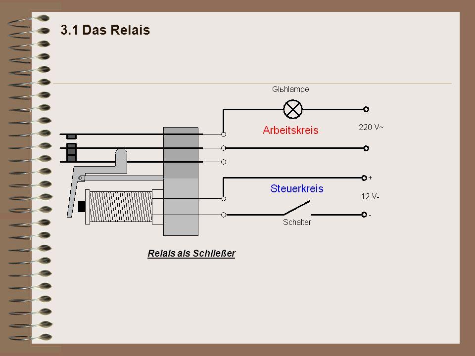 3.1 Das Relais Relais als Schließer