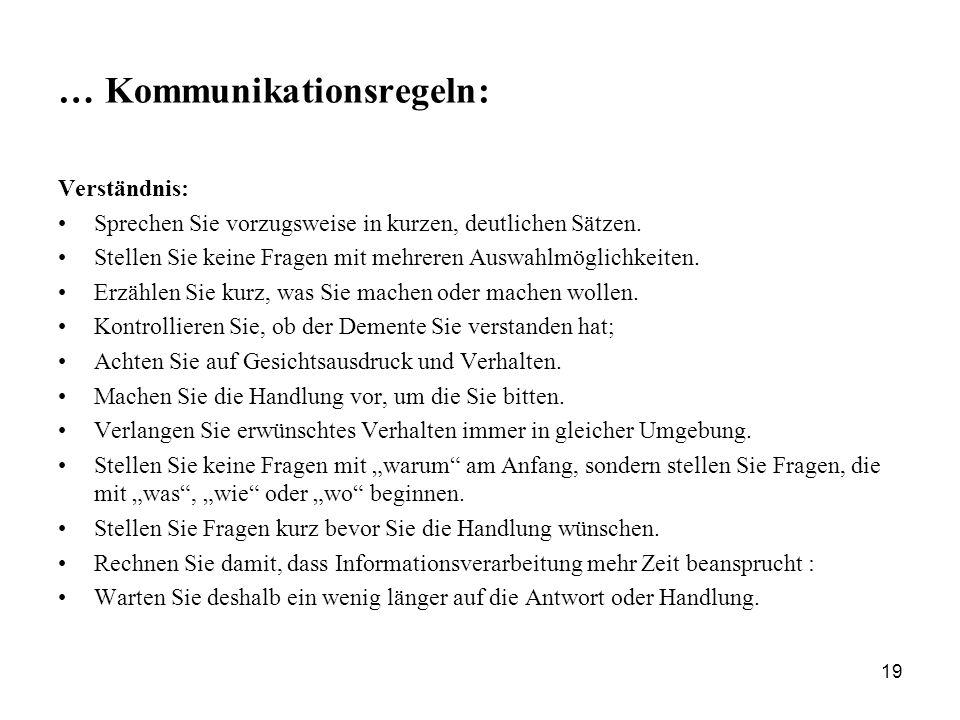 … Kommunikationsregeln: