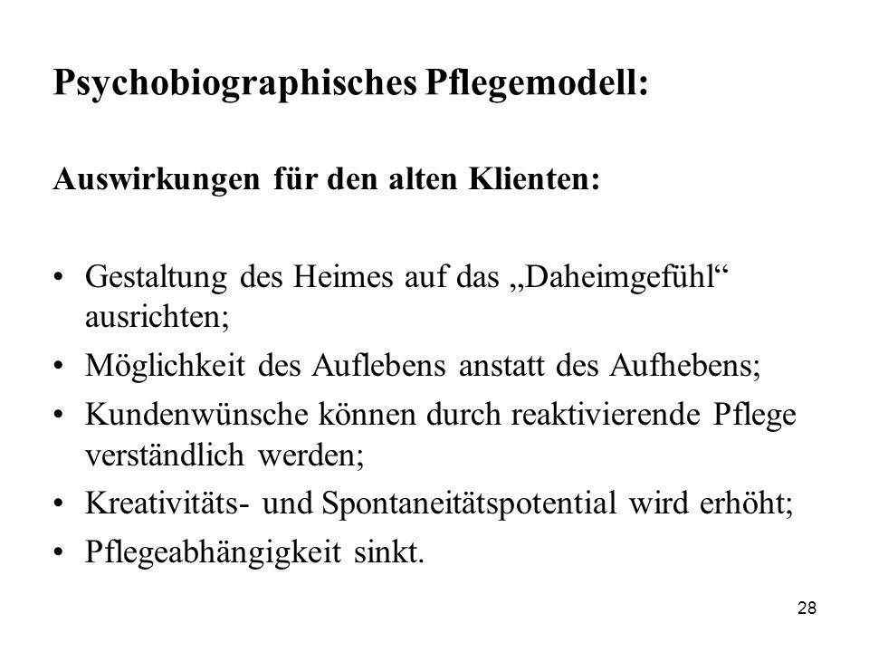 Psychobiographisches Pflegemodell: