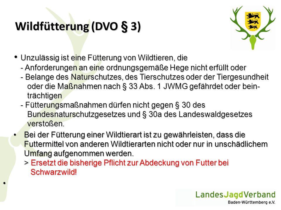 Wildfütterung (DVO § 3)