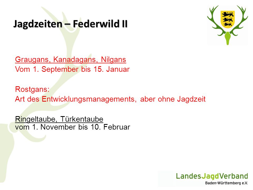 Jagdzeiten – Federwild II