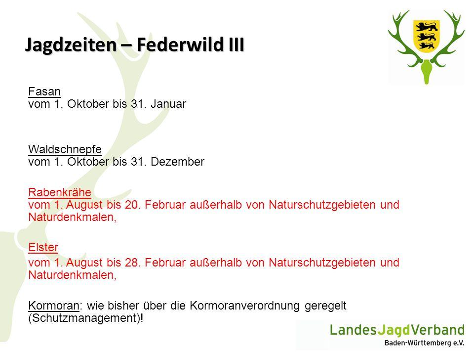 Jagdzeiten – Federwild III