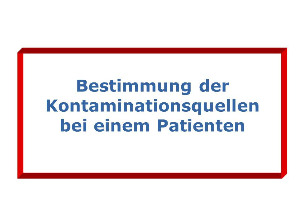 Bestimmung der Kontaminationsquellen bei einem Patienten