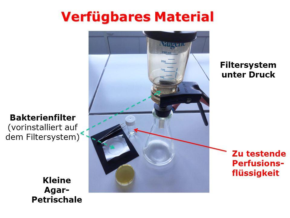 Filtersystem unter Druck Kleine Agar-Petrischale
