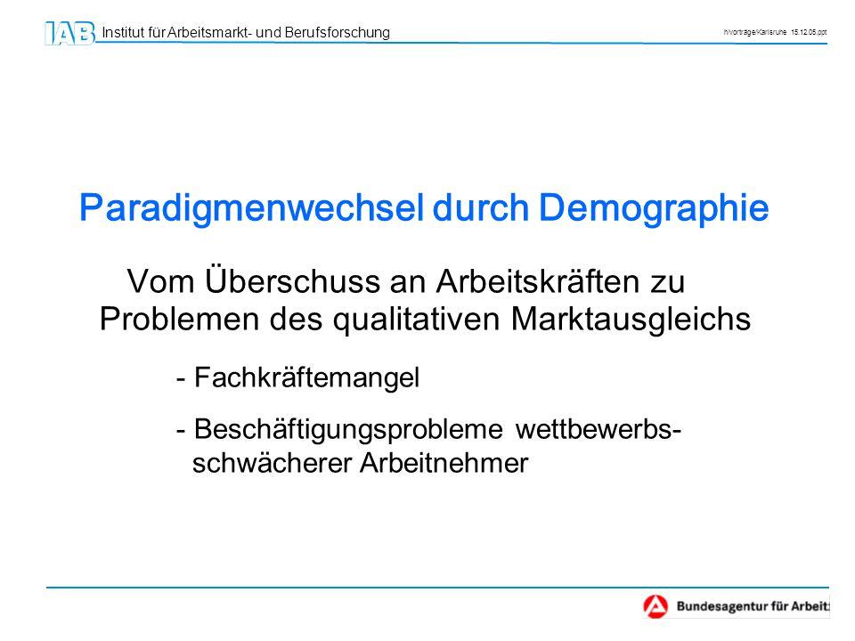 Paradigmenwechsel durch Demographie