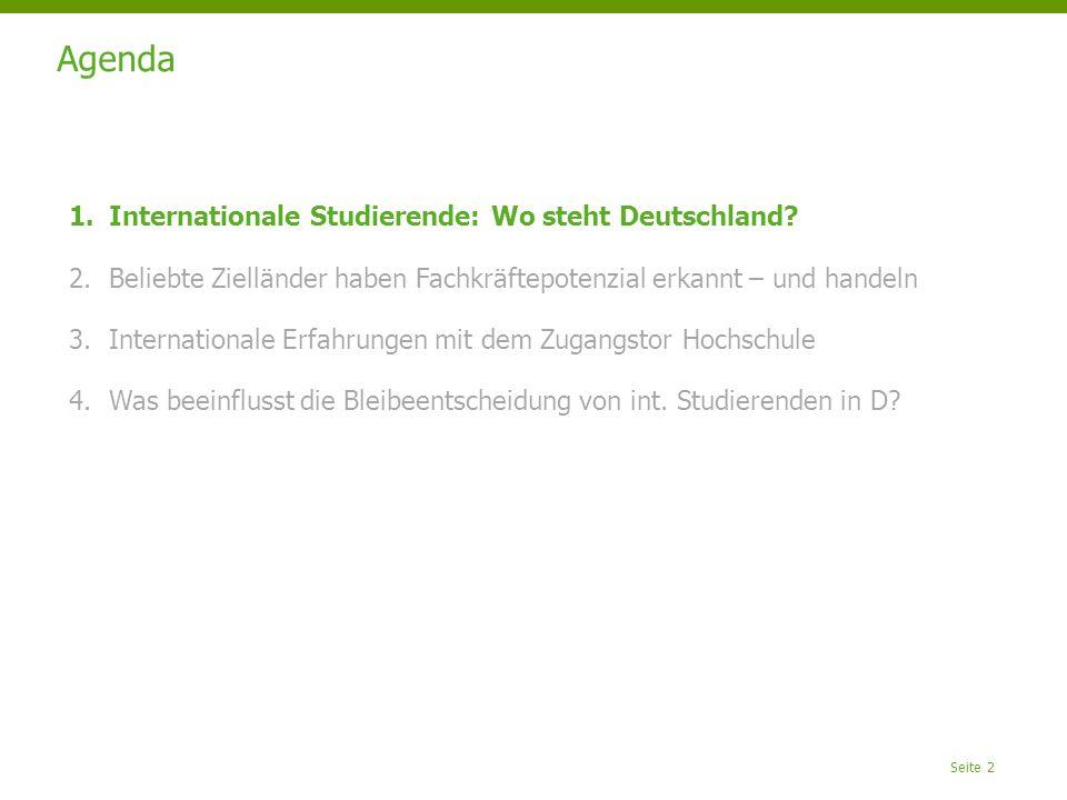 Agenda Internationale Studierende: Wo steht Deutschland