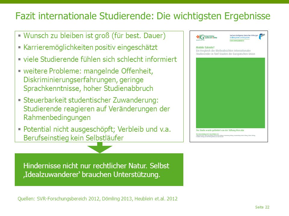 Fazit internationale Studierende: Die wichtigsten Ergebnisse