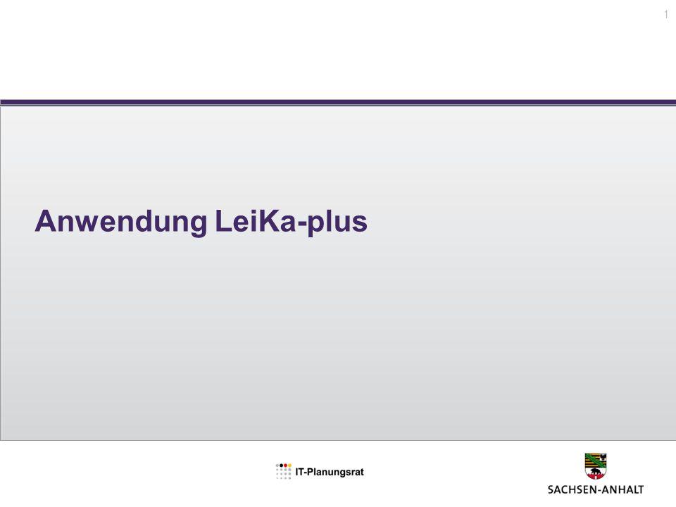 Anwendung LeiKa-plus