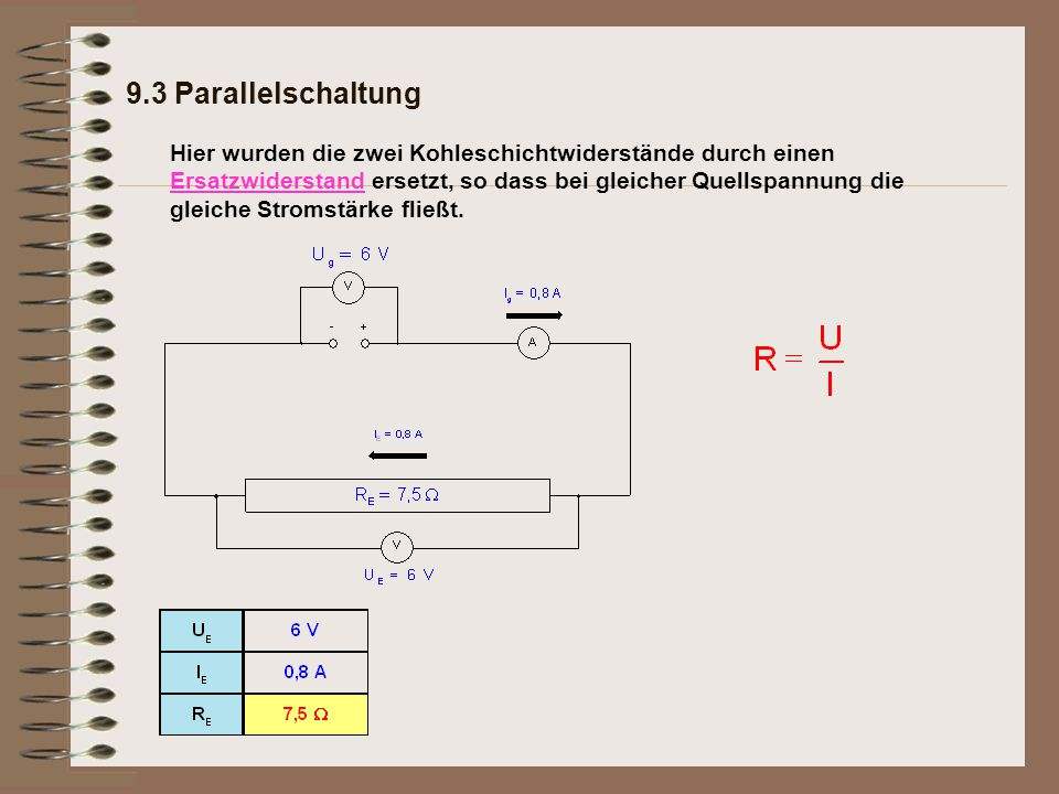 9.3 Parallelschaltung