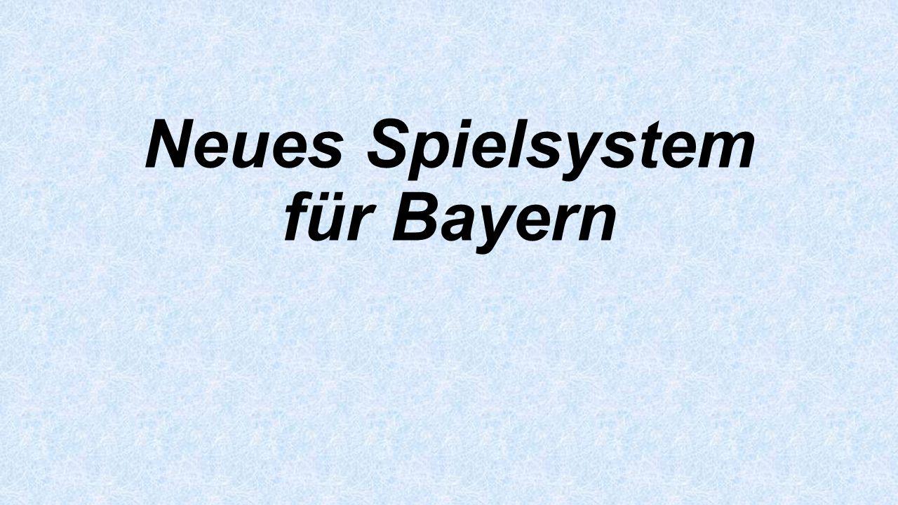 Neues Spielsystem für Bayern