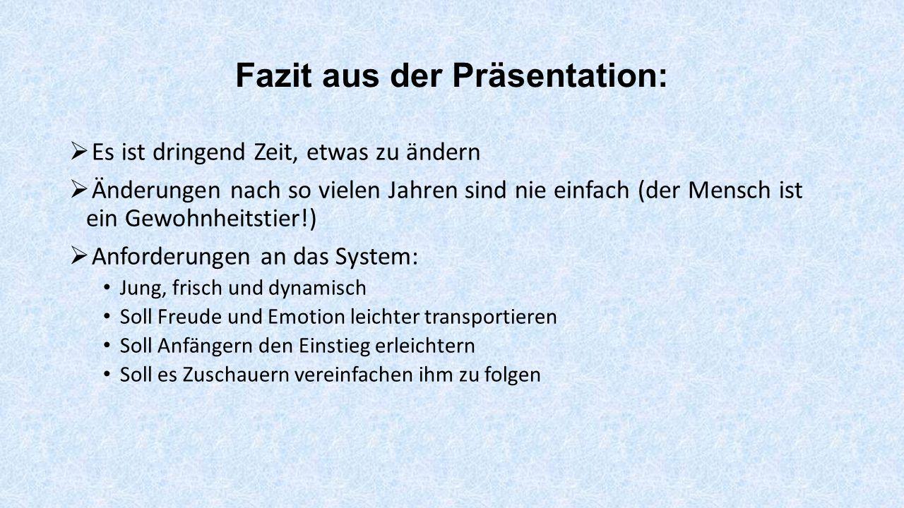 Fazit aus der Präsentation:
