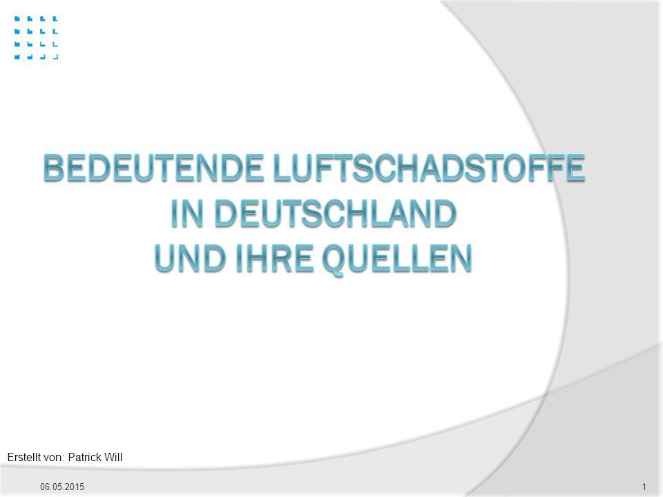 Bedeutende LuftSchadstoffe in Deutschland und ihre Quellen