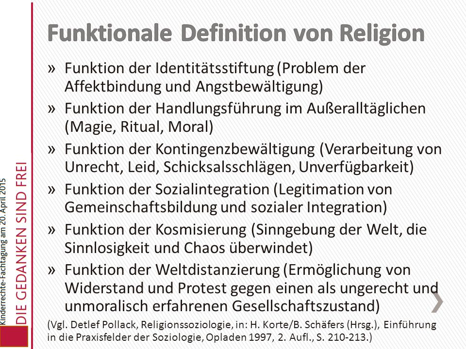 Funktionale Definition von Religion