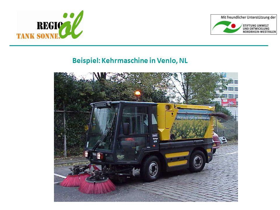 Beispiel: Kehrmaschine in Venlo, NL