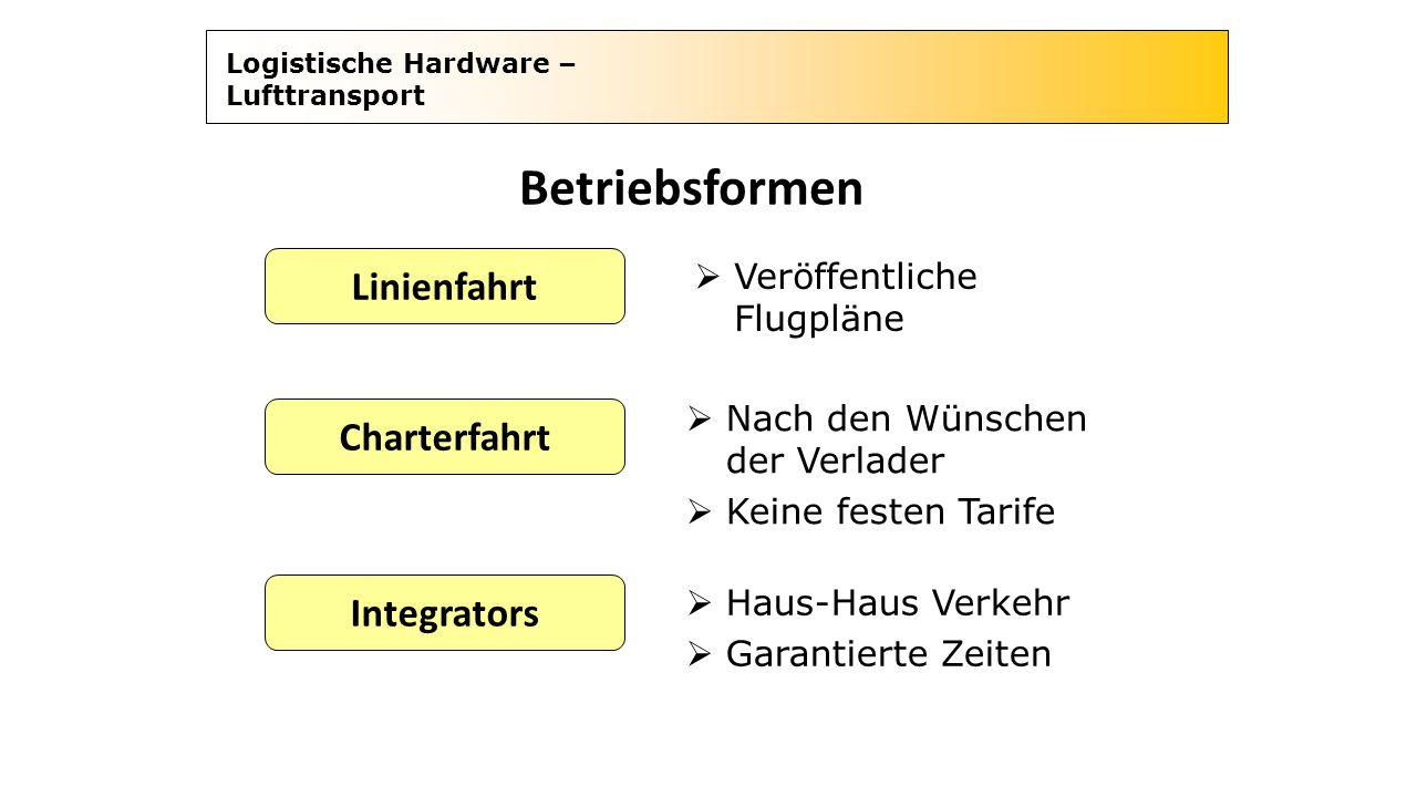 Betriebsformen Linienfahrt Charterfahrt Integrators