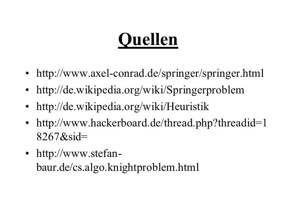 Quellen http://www.axel-conrad.de/springer/springer.html