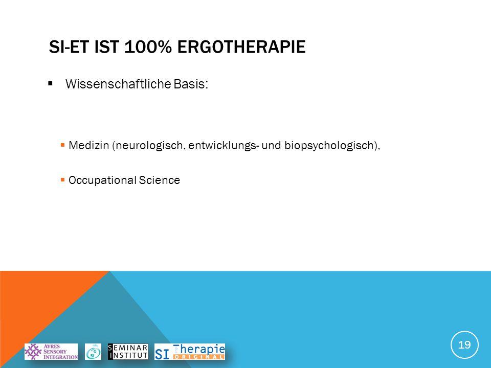 SI-ET ist 100% Ergotherapie
