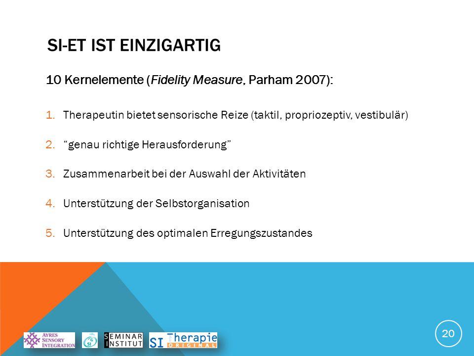 SI-ET ist einzigartiG 10 Kernelemente (Fidelity Measure, Parham 2007):