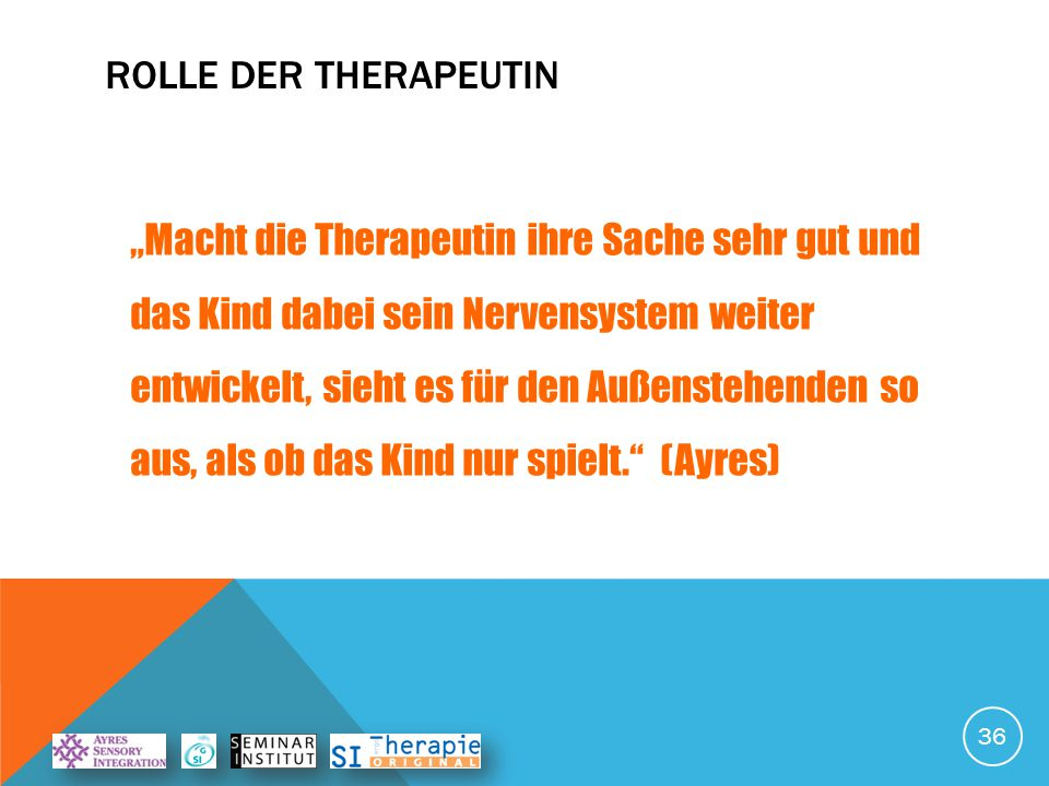 Rolle der Therapeutin