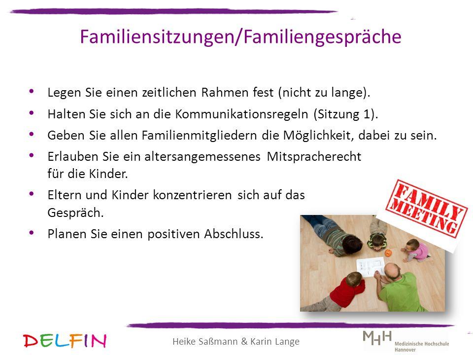 Familiensitzungen/Familiengespräche