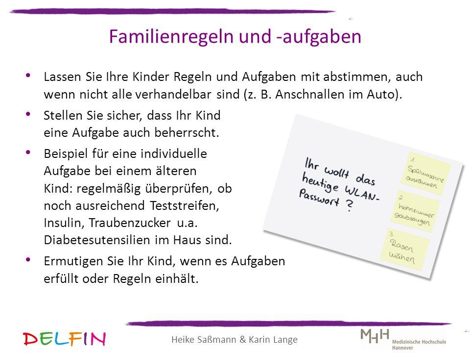Familienregeln und -aufgaben