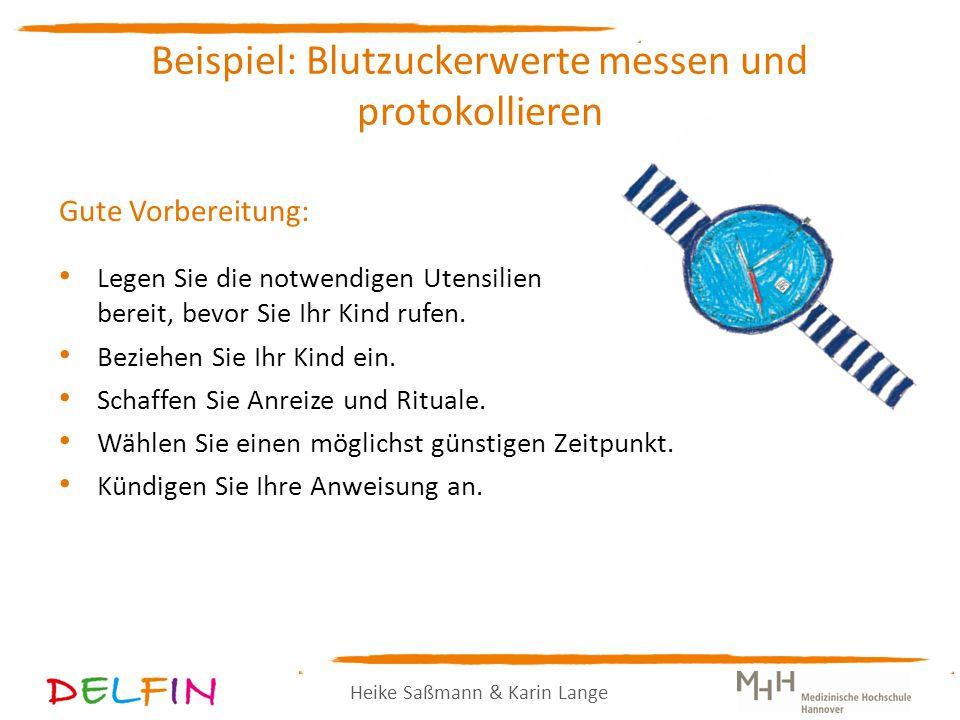 Beispiel: Blutzuckerwerte messen und protokollieren