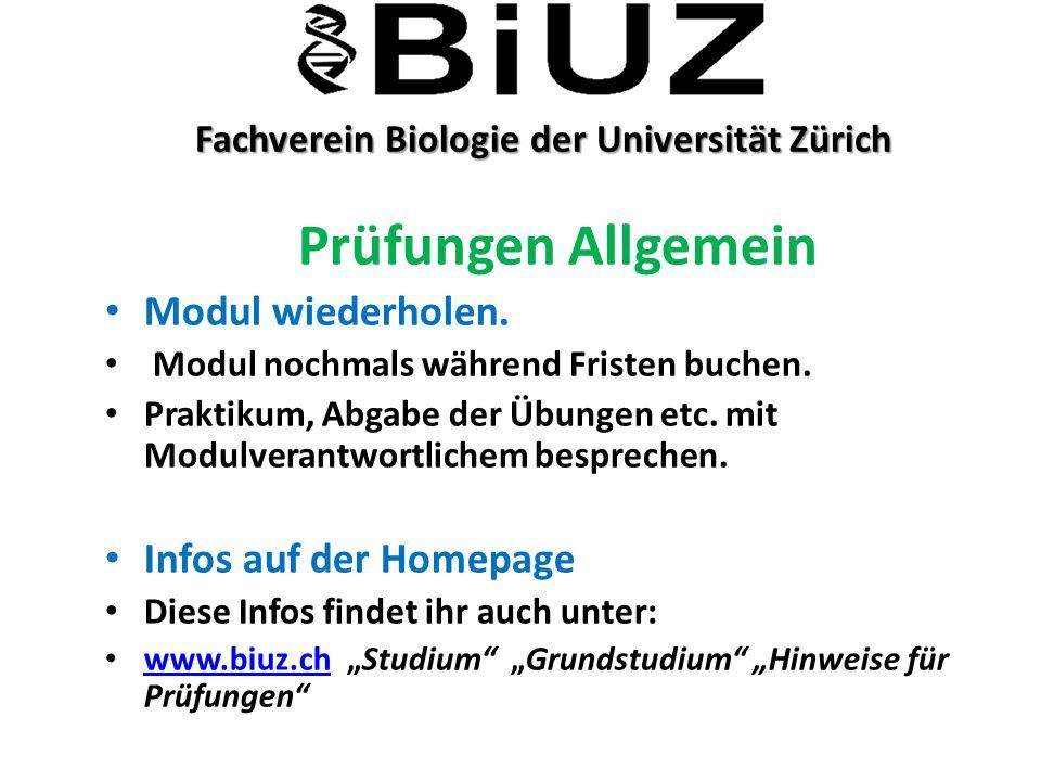 Fachverein Biologie der Universität Zürich