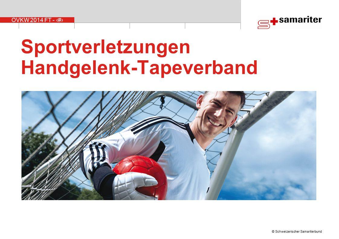Sportverletzungen Handgelenk-Tapeverband