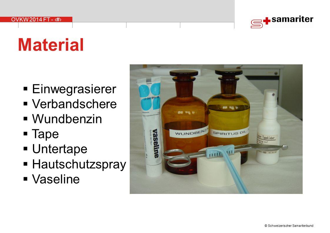 Material Einwegrasierer Verbandschere Wundbenzin Tape Untertape