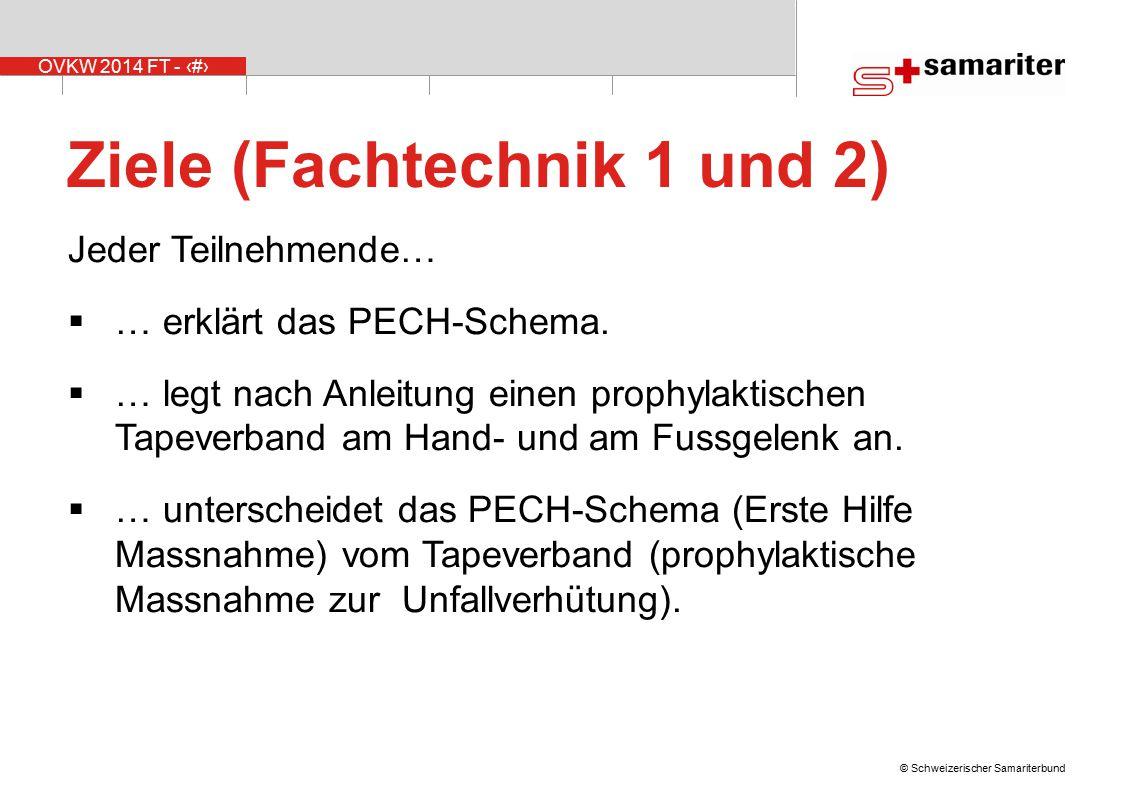 Ziele (Fachtechnik 1 und 2)