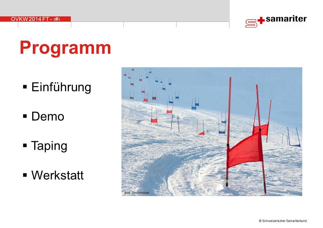 Programm Einführung Demo Taping Werkstatt Bild: Shutterstock
