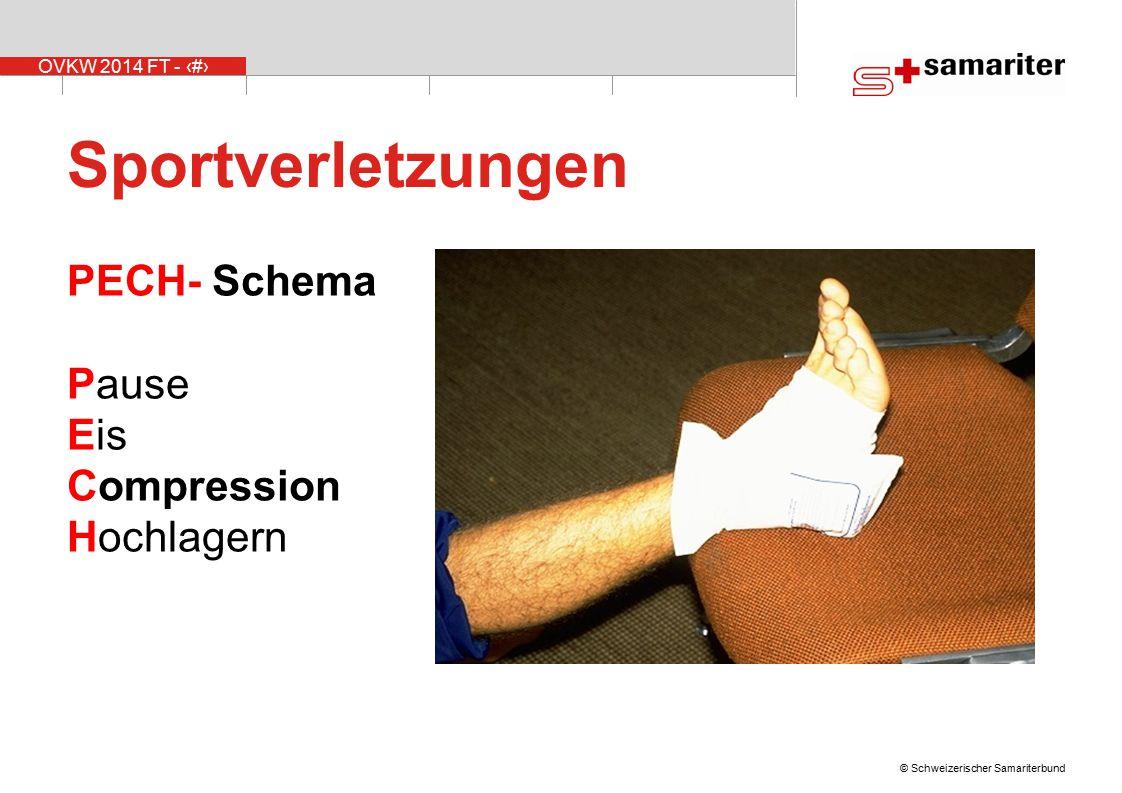 Sportverletzungen PECH- Schema Pause Eis Compression Hochlagern