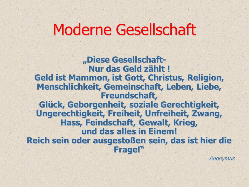 Moderne Gesellschaft