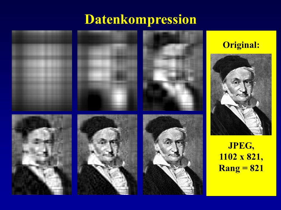 Datenkompression Original: JPEG, 1102 x 821, Rang = 821