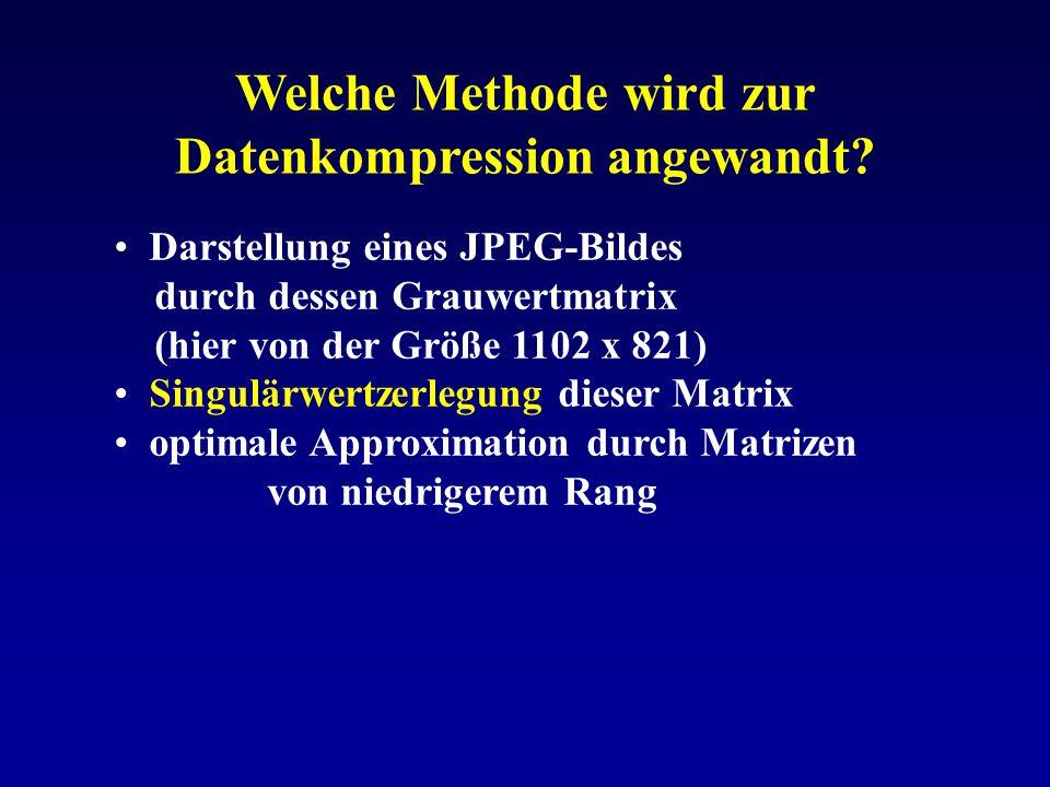 Welche Methode wird zur Datenkompression angewandt