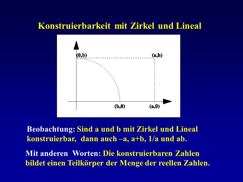 Konstruierbarkeit mit Zirkel und Lineal