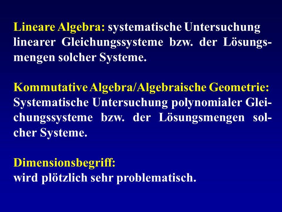 Lineare Algebra: systematische Untersuchung