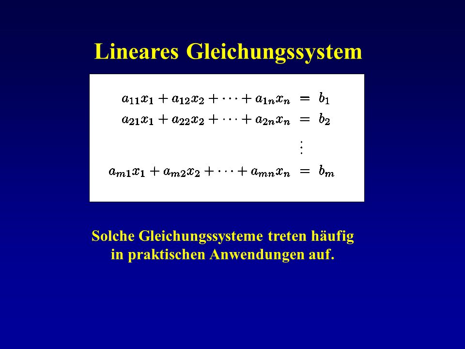 Lineares Gleichungssystem