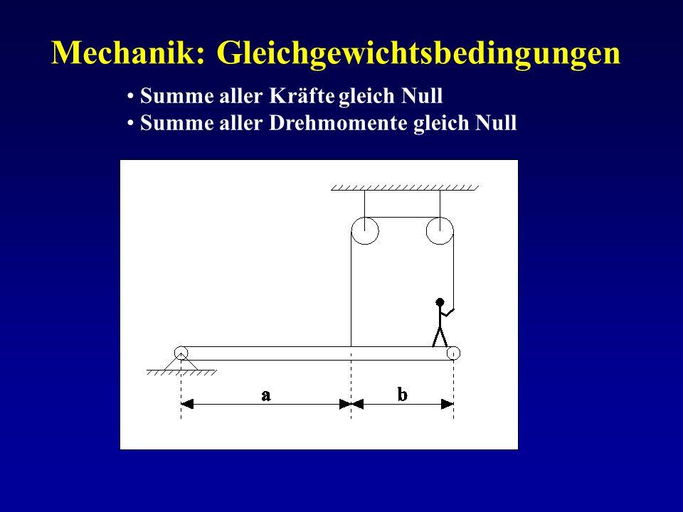 Mechanik: Gleichgewichtsbedingungen