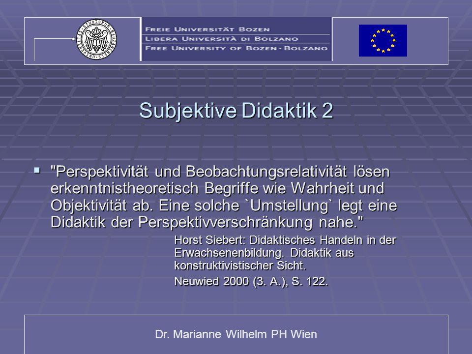 Subjektive Didaktik 2
