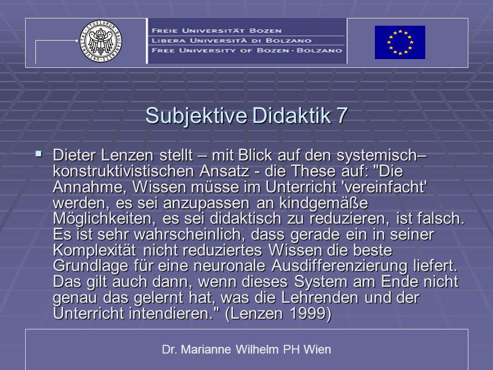 Subjektive Didaktik 7