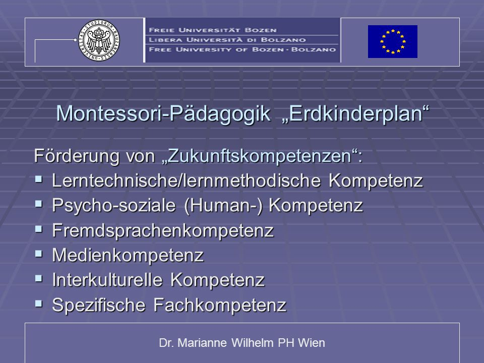 "Montessori-Pädagogik ""Erdkinderplan"