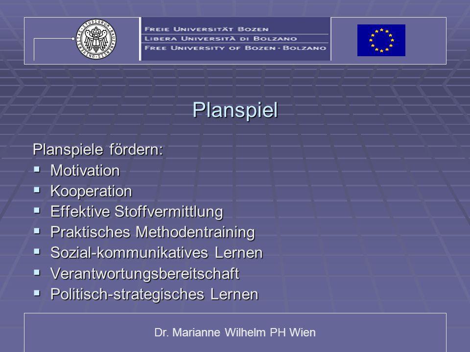 Planspiel Planspiele fördern: Motivation Kooperation