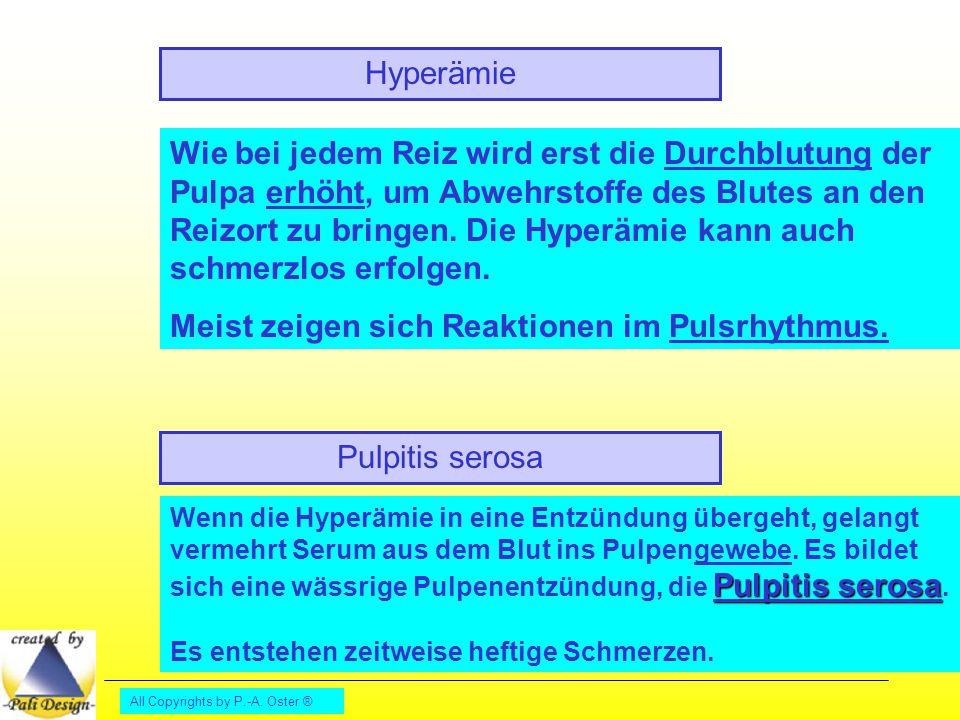 Meist zeigen sich Reaktionen im Pulsrhythmus.