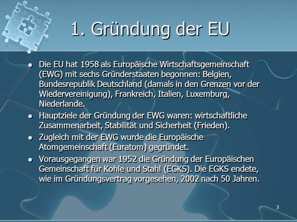 1. Gründung der EU