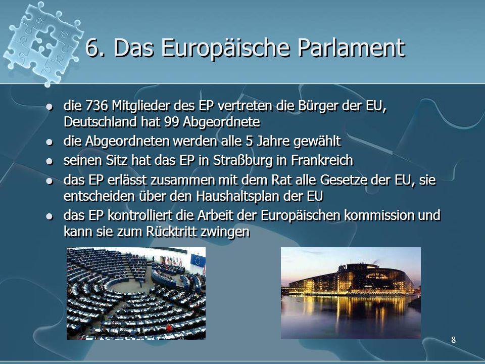 6. Das Europäische Parlament