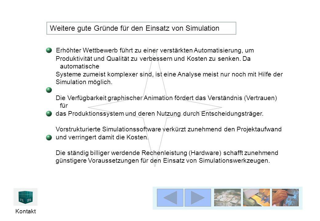 Weitere gute Gründe für den Einsatz von Simulation
