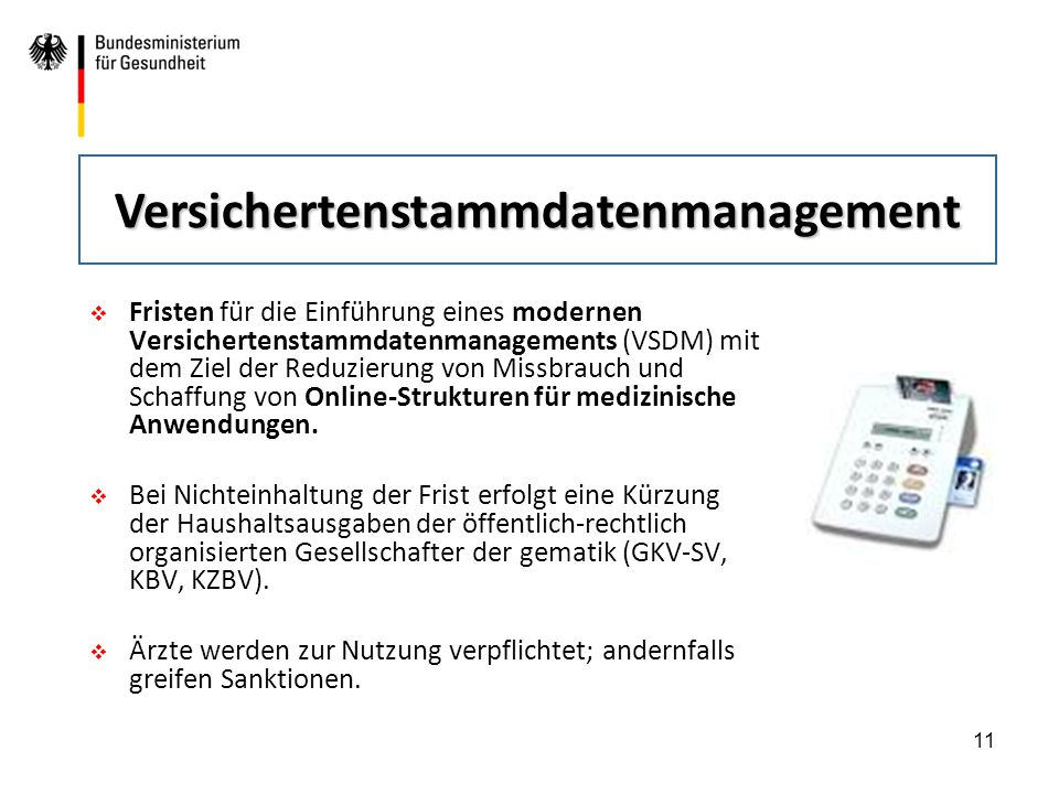 Versichertenstammdatenmanagement